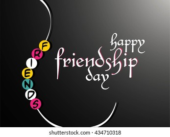 creative vector abstract for Happy Friendship Day with nice and creative illustration in a background.