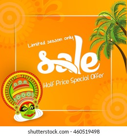 creative vector abstract for Happy Onam with nice and beautiful design illustration in a background.