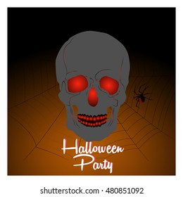 creative vector abstract for Haunted Halloween Party with nice and spooky design illustration.