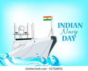 creative vector abstract for Indian Navy Day with nice and creative design illustration in a background.