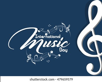 creative vector abstract for International Music Day with nice and beautiful design illustration in a background.