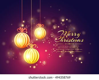 creative vector abstract for Merry Christmas with nice and creative design illustration in a background.