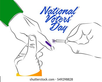 creative vector abstract for National Voter's Day of India with nice and beautiful design illustration.
