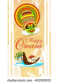 creative vector abstract for Onam with nice and beautiful design illustration in a background.
