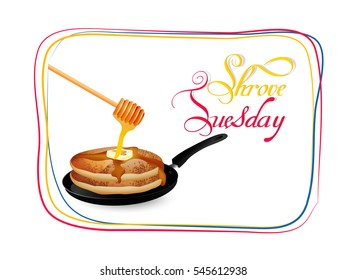 creative vector abstract for Shrove Tuesday or Shrovetide with nice and creative design illustration.