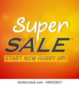 creative vector abstract for Super Sale Offer with creative illustration in a background.