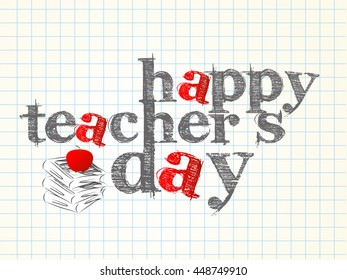 creative vector abstract for Teacher's Day with nice and creative illustration in a background.