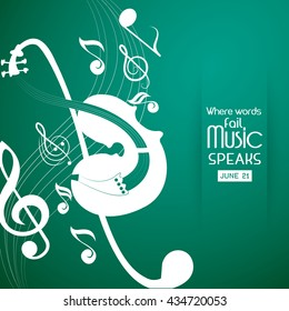 creative vector abstract for World Music Day with nice and creative illustration in a background.