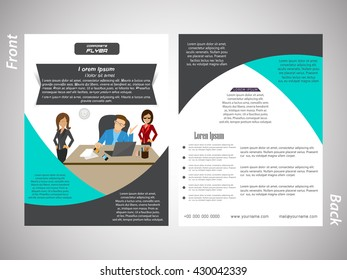 creative vector business brochures template design with nice and creative illustration in background.