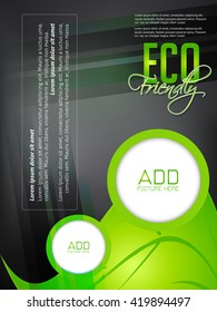 creative vector business Eco Friendly flyer with nice and innovative design in background.