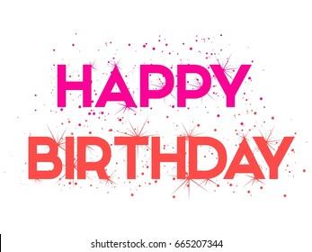 Creative Vector Happy Birthday Banner Gift Stock Photo Photo