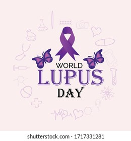 Creative Vector illustration of a Background Or Poster for World Lupus Day.