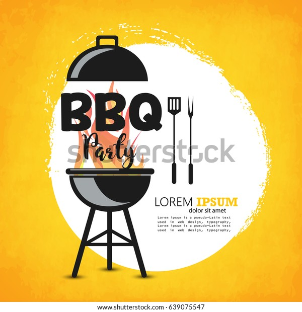 Creative Vector Illustration Barbecue Party Design Stock ...