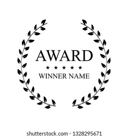 Creative vector illustration of the best award label with golden laurel wreath isolated on transparent background. Art design premium quality choice template. Abstract concept graphic victory element