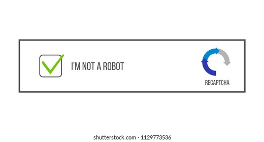 Creative vector illustration of captcha - i am on a robot isolated on background. Art design security login computer code. Abstract concept completely automated public turing test graphic element
