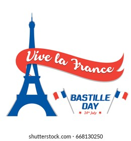 Independence day france images stock photos vectors shutterstock creative vector illustration card banner or poster for the french national day happy m4hsunfo