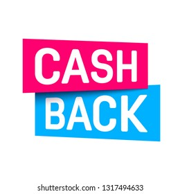 Creative vector illustration of cash back, cashback return, money refund tag isolated on background. Art design sticker, labels, emblem advertisement banner template. Abstract concept graphic element