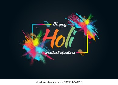 creative vector illustration. colored paint cloud. Indian festival of colors Holi happy. drawing elements to design a poster and flyer, gift cards, art.