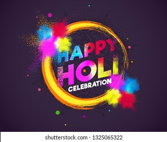creative vector illustration. colored paint cloud. Indian festival of colors Holi happy. drawing elements to design a poster and flyer, gift cards, art