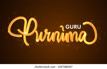 Creative vector Illustration for the Day Of Honoring Celebration Guru Purnima_Vector
