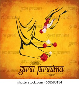 Creative vector Illustration for the Day Of Honoring Celebration Guru Purnima.