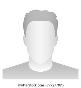 Creative vector illustration of default avatar profile placeholder isolated on background. Art design grey photo blank template mockup. Abstract concept graphic element.
