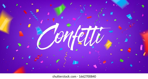Creative vector illustration of festival confetti background. Art design New year party, happy birthday, holiday festive conffeti template. Abstract concept graphic draw prize, win congrats element