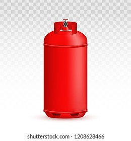 Creative vector illustration of gas cylinder, tank, balloon, container of propane, butane, acetylene, carbon dioxide isolated on transparent background. Art design template. Abstract concept element