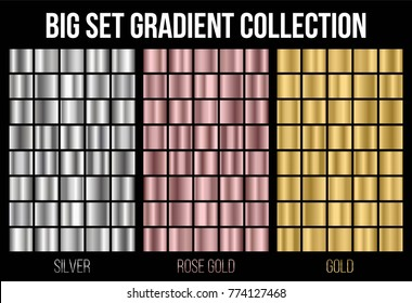 Creative vector illustration of gradient collection. Art design background texture. Abstract concept graphic element.