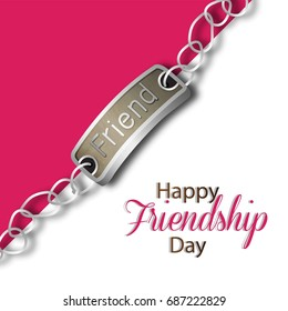 Creative vector illustration of Greeting, Poster, Flyer or Card for Happy Friendship Day .