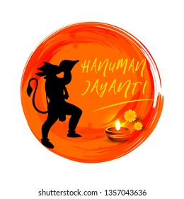 Creative vector illustration of Hanuman Jayanti, celebrates the birth of Lord Sri Hanuman