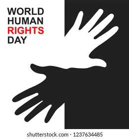 Creative Vector illustration of Human Rights Day background.