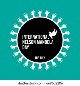 Creative vector illustration for international nelson mandela day on 18th of july