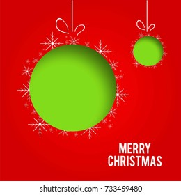 Creative vector illustration of Merry Christmas! Happy Christmas Card, banner or poster