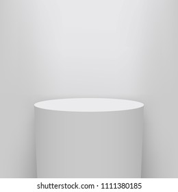 Creative vector illustration of museum pedestal, stage, 3d podium set isolated on transparent background. Art design blank template mockup. Abstract concept graphic element for product presentation
