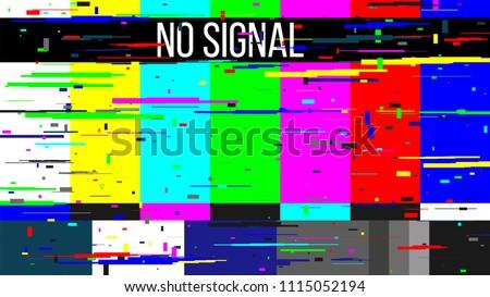 TV No Signal analog bad tv channel damage glitch t