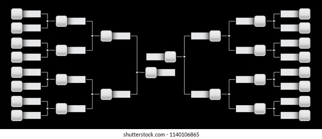 Creative vector illustration of playoffs schedule with two conference blank template isolated on transparent background. Art design championship bracket. Abstract graphic tournament, cup, element