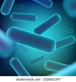 Creative vector illustration of probiotics bacteria isolated on background. Art design microscopic bacteria closeup. Concept healthy nutrition ingredient for therapeutic purposes graphic element