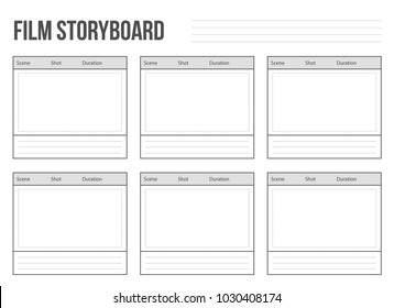 Creative vector illustration of professional film storyboard mockup isolated on transparent background. Art design movie story board layout template. Abstract concept graphic shot and scene element