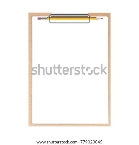 creative vector illustration realistic clipboard paper stock vector