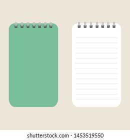 Creative vector illustration of realistic notebooks lined isolated on transparent background. Art design clean spiral notepad blank mockup template. Abstract graphic element