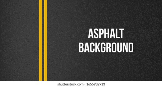 Creative vector illustration of road asphalt, tarmac background. Art design road granular asphalt top view template. Grainy texture. Abstract concept graphic separation lines element