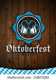 creative vector illustration set of labels, badges and design elements on the Oktoberfest beer festival