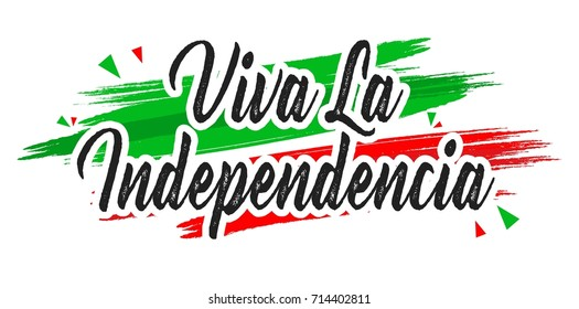 Creative vector illustration of Viva Mexico, traditional mexican phrase holiday, lettering vector illustration