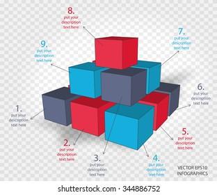 creative vector infographics cubes