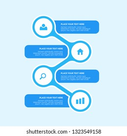 Creative vector infographics elements with creative design illustration. Can be used for workflow layout, diagram, number options,  icons for 4 steps or options, vector design template. EPS10