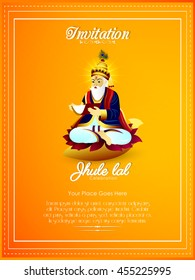 creative vector invitation abstract for Jhulelal Festival Celebration with nice and creative design illustration in a background.