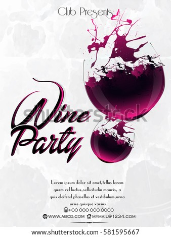 creative vector party abstract flyer wine stock vector royalty free