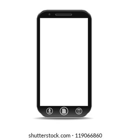 a creative vector pda isolated on white, e-book reader device, eps10