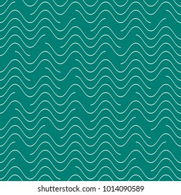 Creative vector seamless wavy line pattern discontinuous design